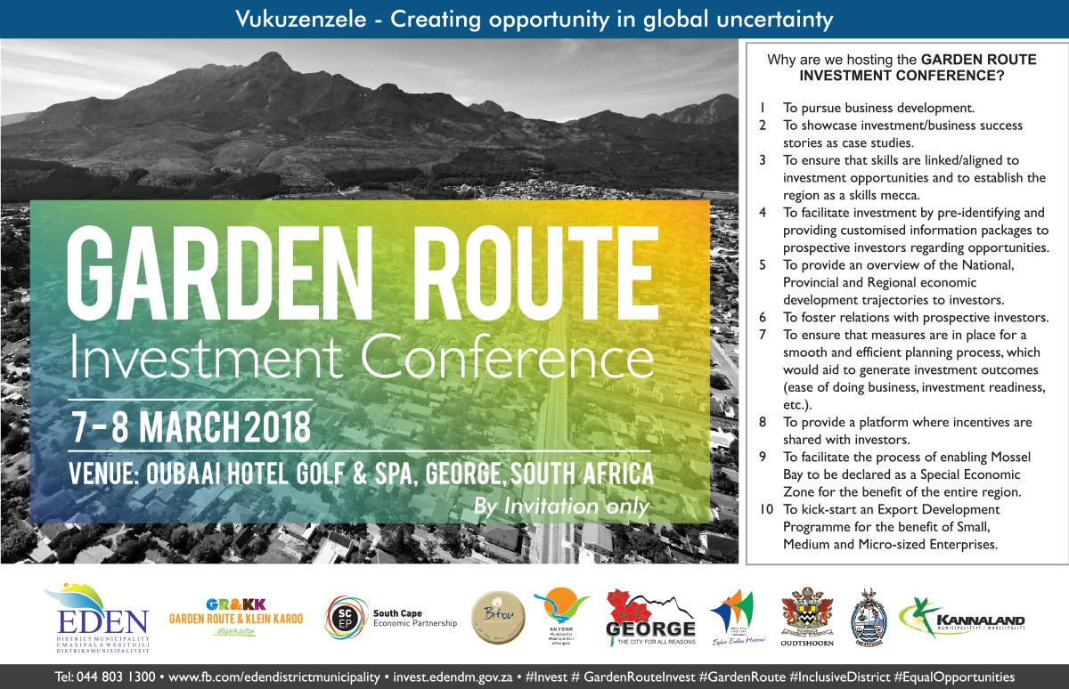 In Focus Advertisement U2013 Vukuzenzele U2013 Garden Route Investment Conference